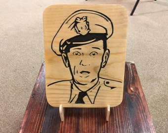 Barney Fife Plaque, Andy Griffith, Barney Fife, Mayberry, Mayberry Deputy, Barney & Andy, Mayberry's Best, Mayberry Art, Classic TV Art
