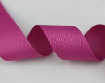 "Grosgrain Ribbon, Pink, Raspberry Rose, 1.5"", 1-1/2inch, 38 mm, 5 yards for wedding"
