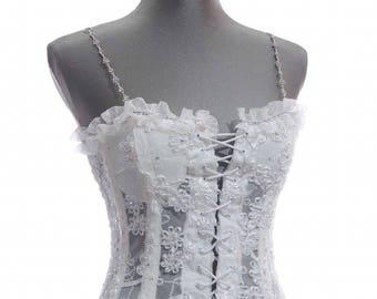 White Lace Corset