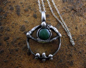 THIRD EYE • Stylish Loupe • gift for men magnifying necklace gift ideas AGATE necklace