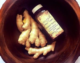 ginger syrup, local raw honey, tea sweetner, digestife
