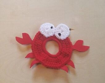 Crocheted Red Crab Camera Buddy