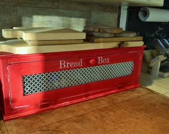 Bread Box , Made to Order , Custom Made , Distressed Finish , Farmhouse Style