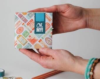 Travel Envelope Book Blank Journal Mini Scrapbook Handmade Gift