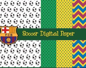 Soccer Digital Paper