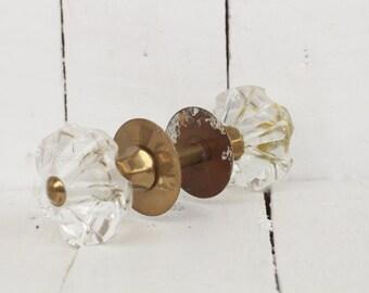 Vintage Door Knobs Glass Door Knobs Handles Clear Glass Rustic Door Knob  Decorative Door Knob Glass