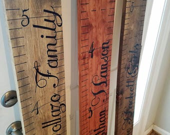 Wood Custom Height Chart Handmade