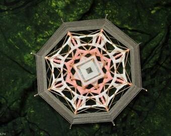 Apple Blossom Figurative Yarn Mandala Ojos de Dios 30 cm