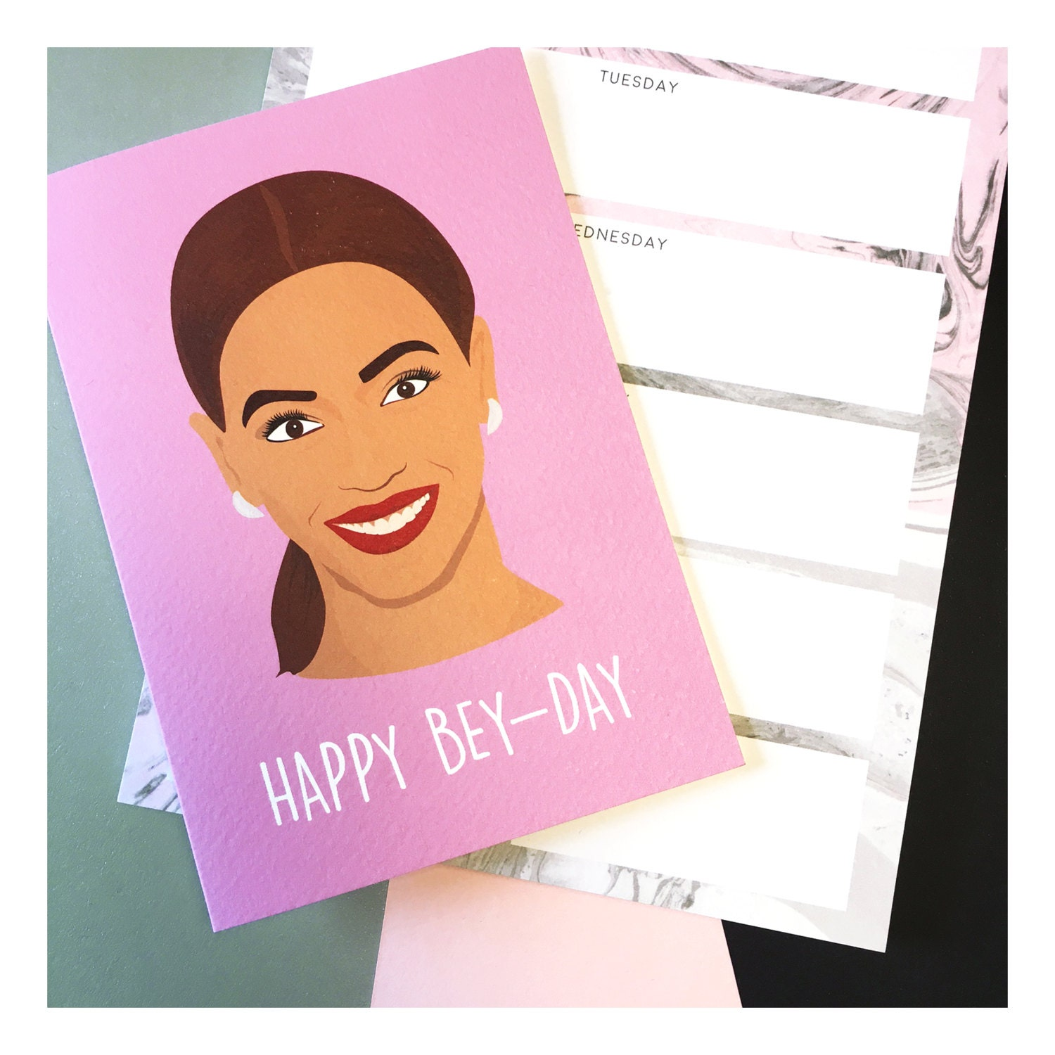 Happy Bey-Day Beyonce Themed Birthday Card Beyonce Card