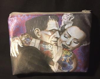 Frankenstein zipper pouch makeup bag