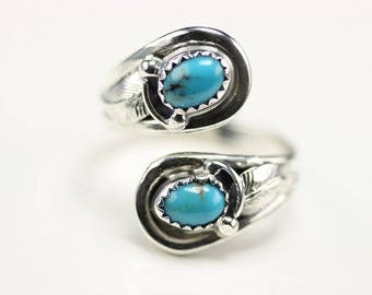 Native American Indian Jewelry Handmade Sterling Silver Turquoise Adjustable