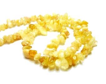 100 chip citrine beads PCH1-017