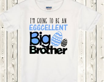 Big brother Announcement Shirt Easter Pregnancy reveal Big Brother shirt or  ONESIE ® brand bodysuit  for Easter pregnancy announcement