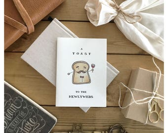 Wedding Card // funny wedding card, cute wedding card, card for newlyweds, card for wedding, marriage card, newlywed card, for the bride