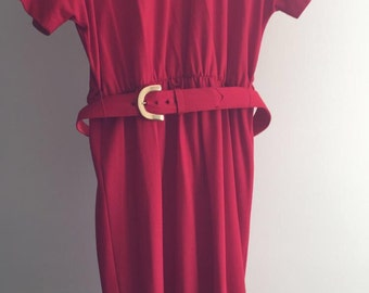 Vintage Little Red Dress - Plus Size
