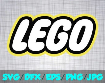 Lego SVG Iron On Decal Cutting File / Clipart in Svg, Eps, Dxf, Png Jpeg for Cricut Silhouette Legoland Lego logo movie