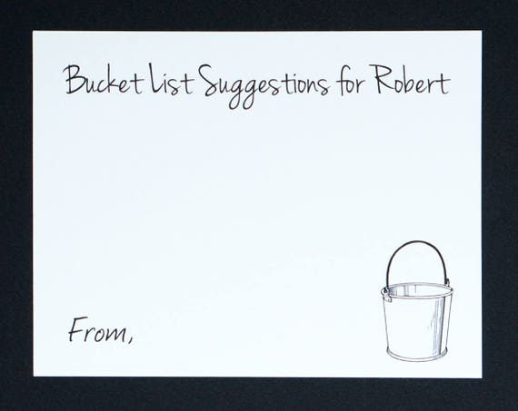 Bucket List Cards Retirement Party Personalized Name