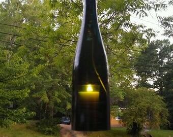 Wine Bottle Lantern