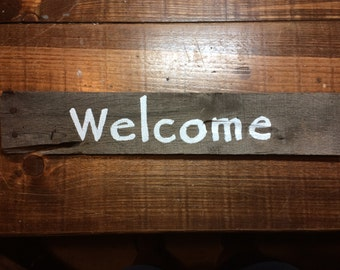 Small Rustic Welcome Sign