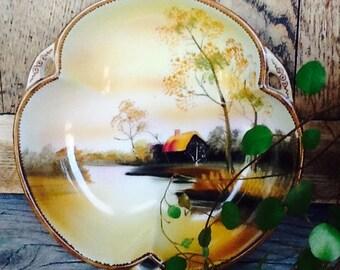 Nortake China bowl, handpainted
