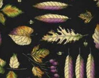 Timeless Treasures Quilting Cotton Fabric Leaves 129921 - 1/2 Yard
