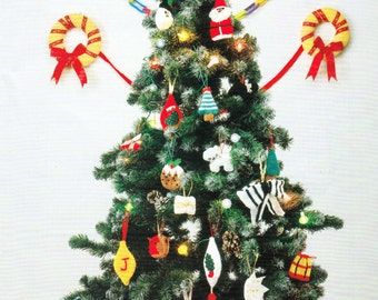 PDF Knitting Pattern - Bumper Christmas decorations for your tree