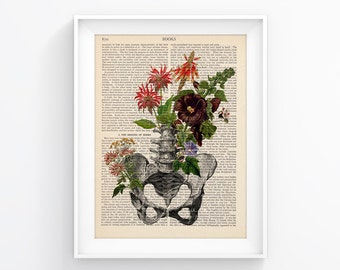 Anatomy Poster Upcycled Page book Print Vintage Illustration Print Wall decor Decorative Art Book Page Retro Poster Vintage Book print 096
