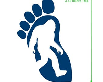 Sasquatch foot sticker, Sasquatch, yetti, big foot