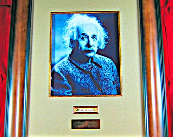 Albert Einstein Framed Autograph Display