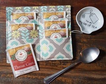 Tea Wallet - Teal Lotus