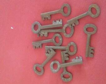 Faux Vintage Barrel Keys