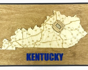 Stadium State Shape - Kentucky, Lexington (Commonwealth Stadium)