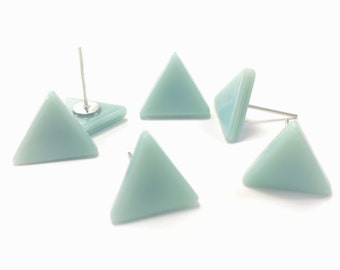 Tiny Triangle Earring, Modern Geometric Posts, Small Stud Earrings, Dainty Minimalist Earrings, Mint Small Post Earrings, Little Stud