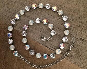 Winter White Swarovski Sparkle 8mm Necklace