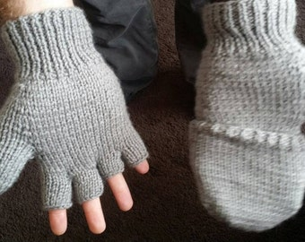 Convertible mittens /fingerless gloves
