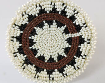 Beaded Navajo Wedding Basket Design Miniature