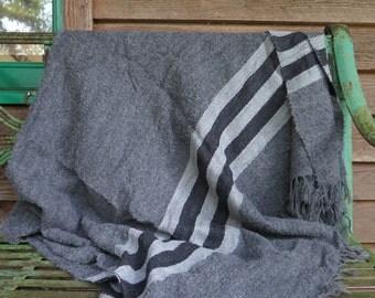 Boucle Knit handwoven Baby Alpaca Shawl / Throw