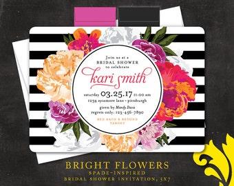 BRIGHT FLOWERS . bridal shower invitation