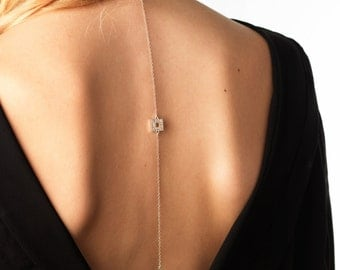 Back and crew neck, jewelry 925 sterling silver