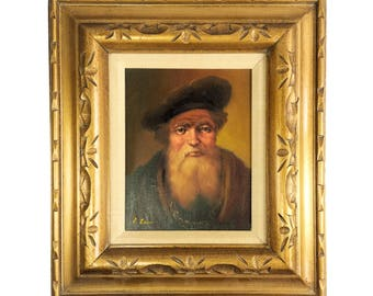 Original Framed Oil Painting Unknown Master European Nobleman Greco Gecco