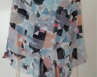 Ballet wrap skirt: Cubist