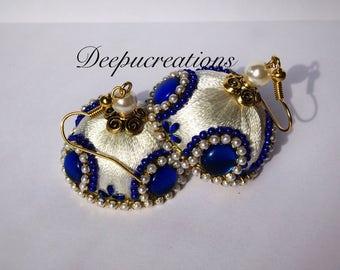 Silk thread earrings-jhumkas