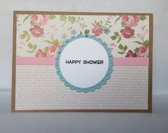 Bride to Be/Bridal Shower/Wedding Shower Handmade Pop Up Card