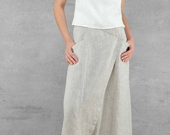 Linen women skirt, Pure linen long skirt, Natural linen Skirt, Linen Skirt, Linen clothing, linen clothes, Organic Linen Long Skirt