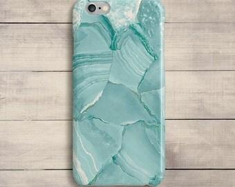 Watercolor Mint Blue Paint Strokes Case iPhone 7 Plus SE iPhone 6S iPhone 6 Plus iPhone 5 5S 5C Galaxy S5 S6 S6 S7 Edge Samsung Note 4