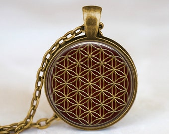 Flower of Life -  Sacred Geometry Handmade Pendant Necklace