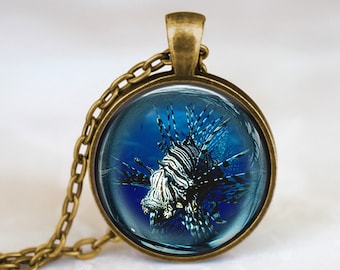Scorpionfish Fisheye - Nature Animal Handmade Pendant Necklace