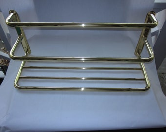 """Brass Towel Rack, by Cifial, """"Broadway"""" style, Made In Portugal"""