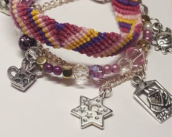 Disney's Tangled inspired Charm Bracelet; multi-strand; friendship bracelet *FREE UK SHIPPING*