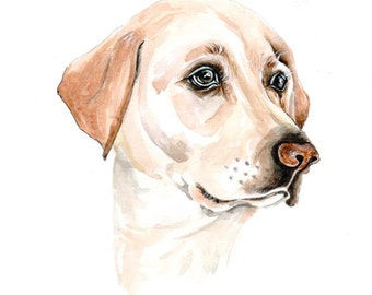 8x10 inch Custom pet portrait, gift for boyfriend, original watercolour painting, animal painting,